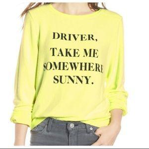 Wildfox Sunny Yellow Sweatshirt